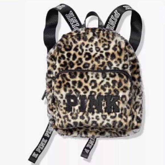 PINK Victoria s Secret Bags   Vs Pink Mini Backpack Bag Black ... 2504b97581